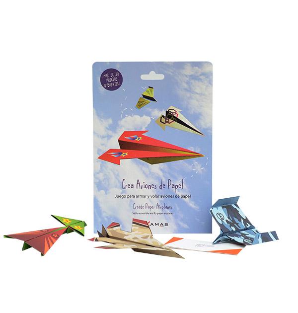 crea aviones de papel