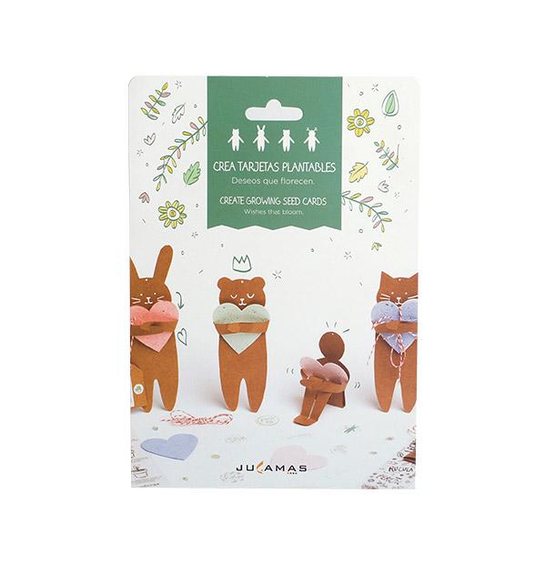 crea tarjetas plantables